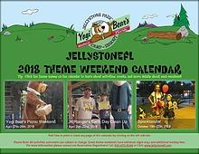 JellystoneFL Themed Weekend Calendar