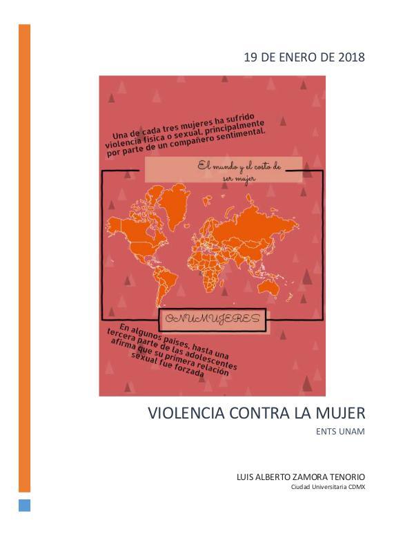 Violencia contra la mujer Proyecto luis alberto