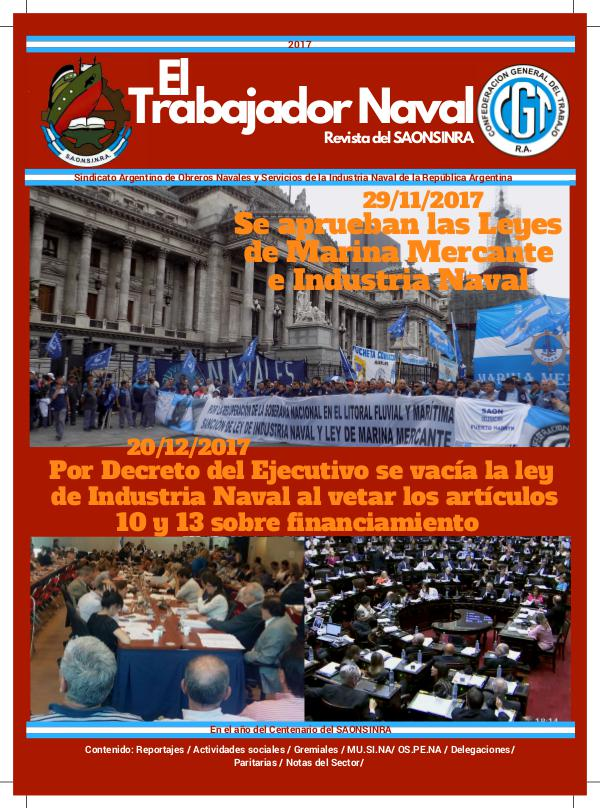 Revista Gremial del SAONSINRA (2017) Soporte digital de la Revista del SAONSINRA