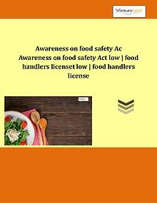 Types of FSSAI Food Handlers License: Basic Registrati - Venture Care