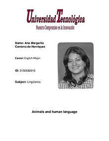 Animals & human language.