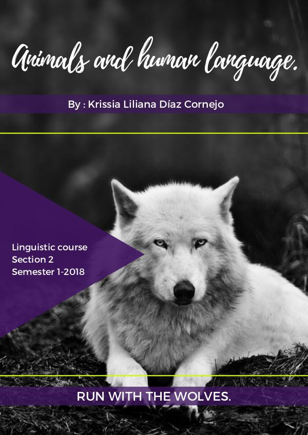 Animals & human language Animals and human language.