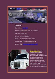 Limo Hire Services in Solihull at Best Price