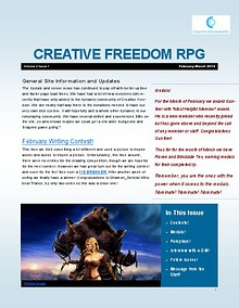 Creative Freedom RPG Newsletter Volume 2 Issue 1