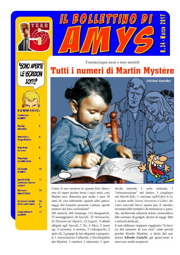AMys - Bollettino Informativo n.34 - Marzo 2017