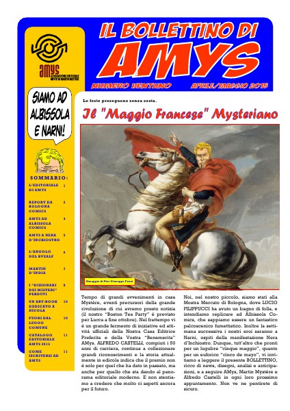 AMys - Bollettino Informativo N.21 - 05 2015