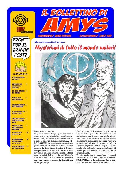 AMys - Bollettino Informativo N.22 - Giugno 2015
