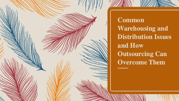 Common Warehousing and Distribution Issues