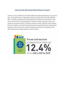 How Can the UAE Attract More Chinese Tourists?