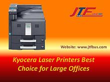 Kyocera Laser Printers Best Choice for Large Offices