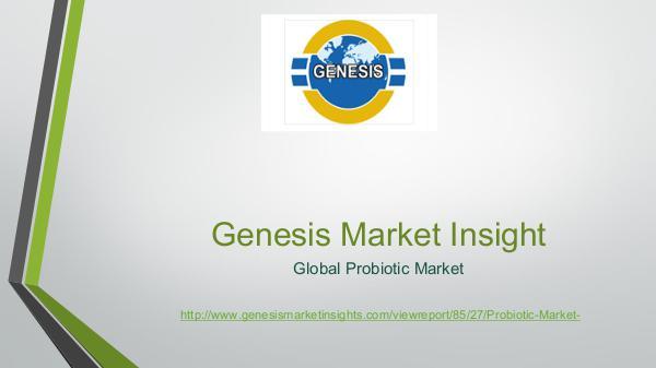 Genesis market Insights   Market Research probiotic