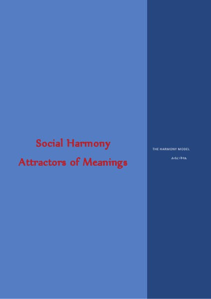 Attractors of Meanings & SOCIAL HARMONY