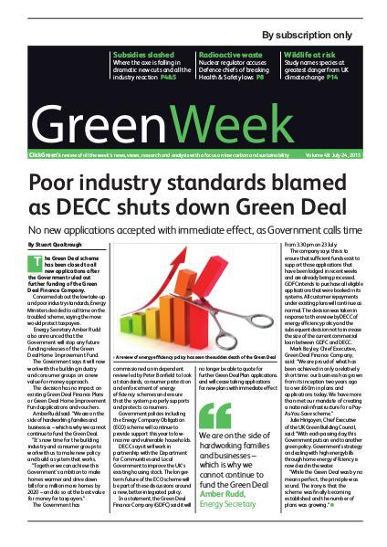 GreenWeek Vol 48.  July 25, 2015