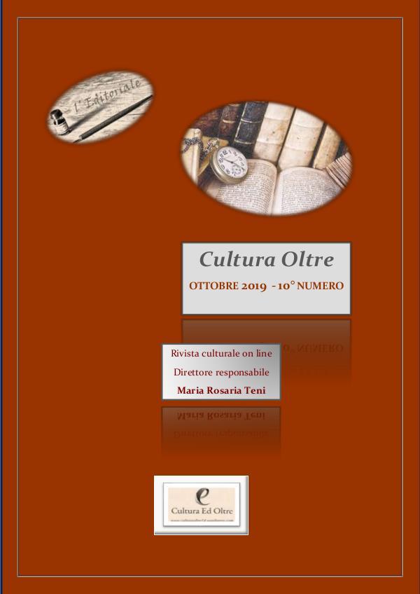 Rivista Cultura Oltre 10° numero - Ottobre 2019 Rrivista Cultura Oltre - 10° numero- Ottobre 2019