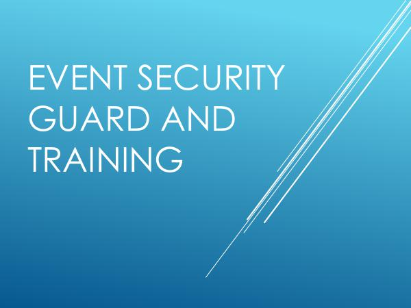 Northern Force Security Event Security Guard And Training