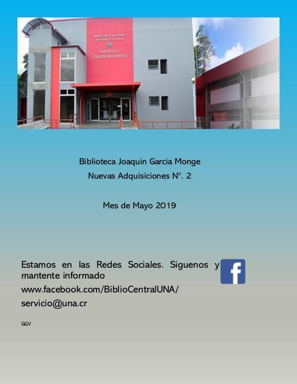 Biblioteca Joaquín García Monge Adquisiciones 2