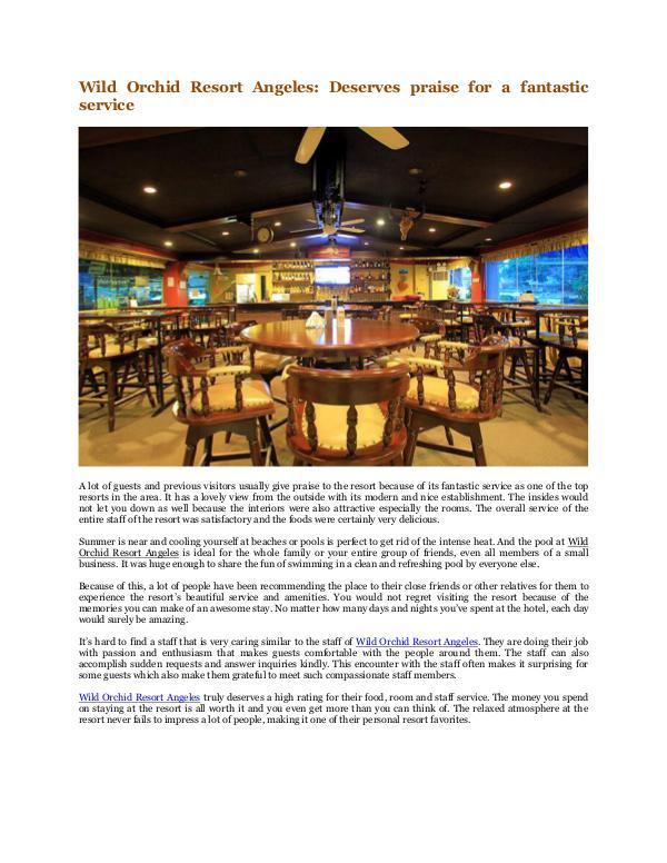 Wild Orchid Beach Resort and Hotel Wild Orchid Resort Angeles: Deserves praise
