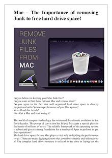 Removing Junk Files from Mac is now a piece of cake!