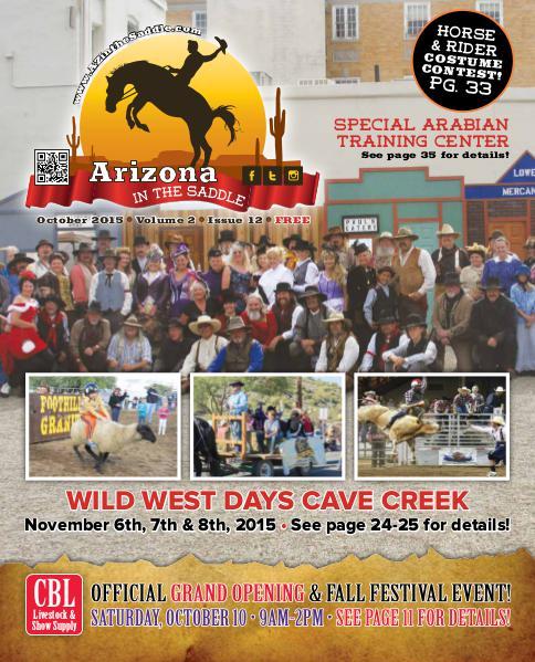 Arizona in the Saddle October 2015 Volume 2 Issue 12