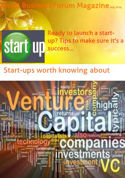 Small Business Forum Magazine Online August 2014