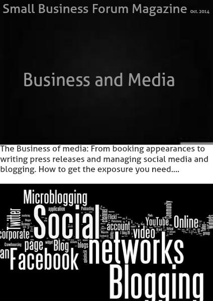 Small Business Forum Magazine Online Oct 2014