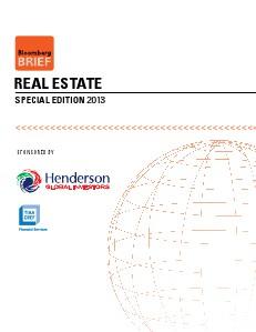 Bloomberg Real Estate Special Focus Vol 1 October 2013