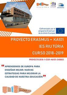 Revista difusión proyecto Erasmus+ KA1 18/19 IES Riu Túria