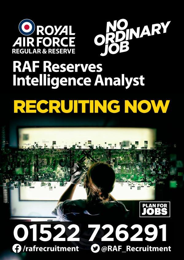 RAF Reserves Intelligence Analyst
