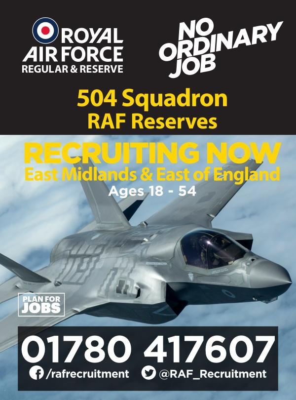 Reserves Opportunities 504 (East Midlands) Sqn RAF Reserves