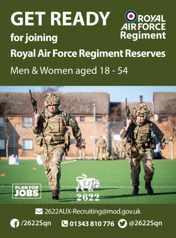 RAF Regiment Reserves Fitness Brochure