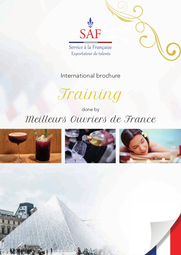 Service à la Française International Brochure Training done by Meilleurs Ouvriers de France