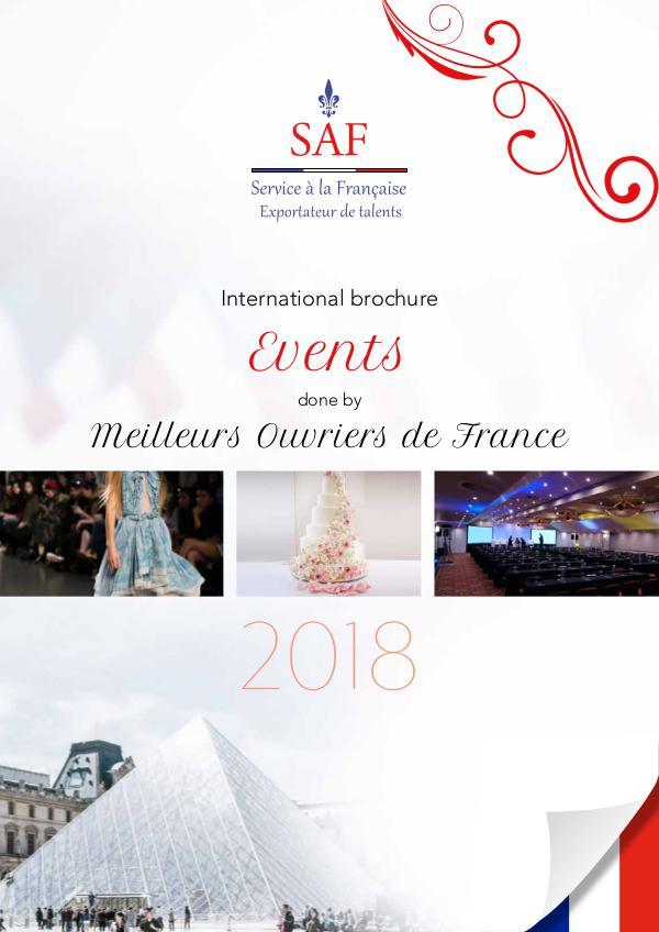 Service à la Française International Brochure Events done by Meilleurs Ouvriers de France
