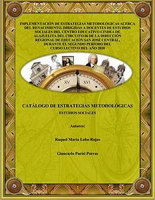 Catálogo de estrategias metodológicas