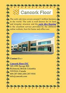Find the Direct distributor of Cork Floor Tiles