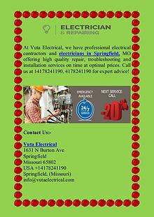 Professional Electricians in Springfield, MO
