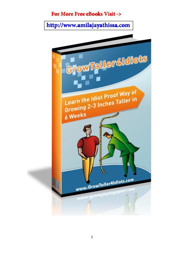 Get Grow Taller 4 Idiots Review PDF eBook Book Free