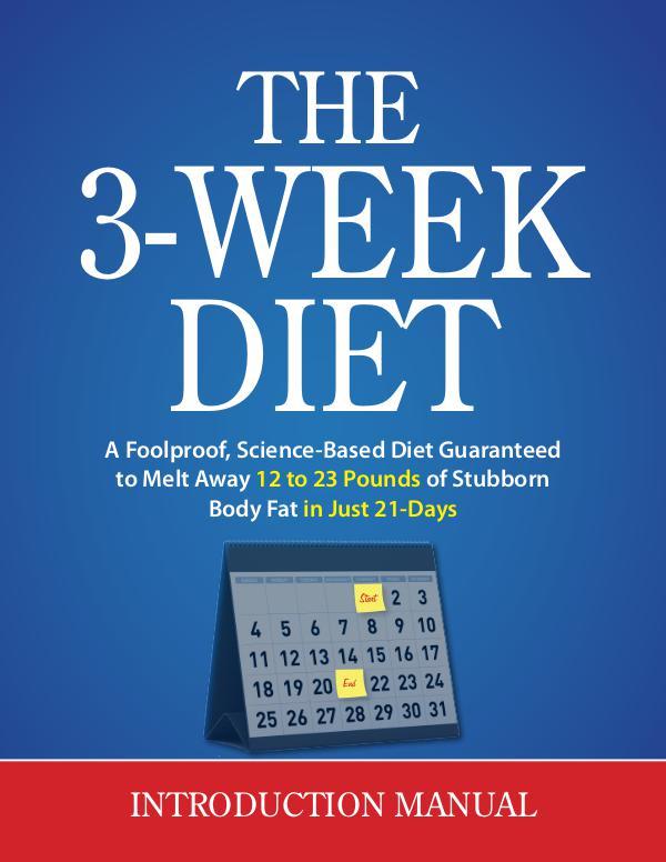 The 3 Week Diet Review PDF eBook Book Free