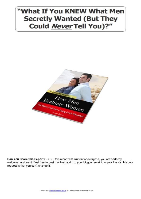 What Men Secretly Want Review PDF eBook Book Free