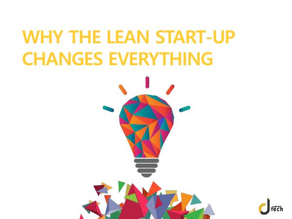 Dtech Systems The Lean Startup   Methodology