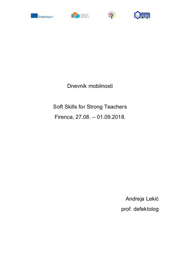 Soft skills for strong teachers