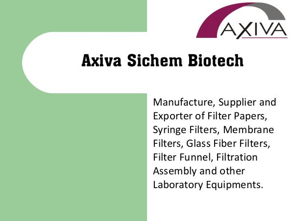 Laboratory Equipments Manufacturer of Syringe Filters, Filter Paper