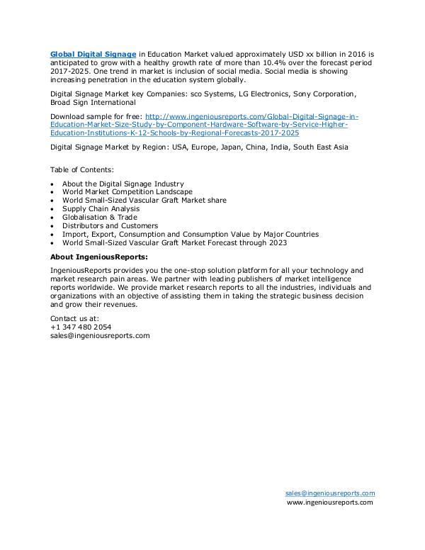 Regional-Global Digital Signage Market Research - Forecast 2023 Global Digital Signage