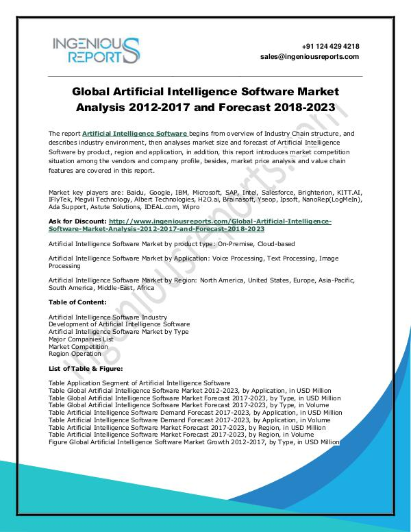 2023 Global Artificial Intelligence Software Market: Regional Outlook Artificial Intelligence Software