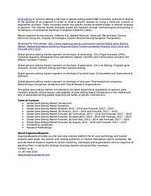 Global 2023 Gene Editing Market Research & Key Company Analysis