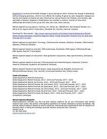 2023 Global Epigenetics Market Forecast, By Application