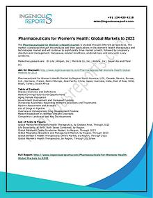 Women's Health Market|Worth (CAGR) of 4.2% for the period of 2018-202