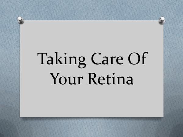 RETINA CARE CONSULTANTS. P.A. Taking Care Of Your Retina