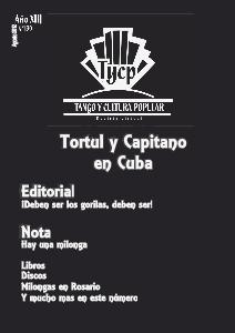 Tango y Cultura Popular N° 139 Ago. 2012