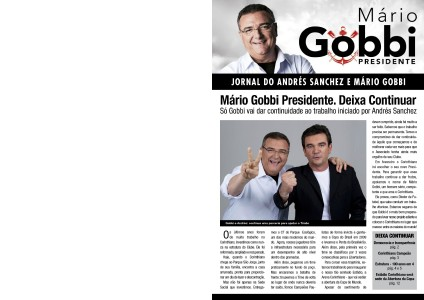Jornal Andrés Sanchez e Mário Gobbi Jornal Andrés Sanchez e Mário Gobbi