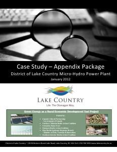 Hydro Power Plant Studies DLC_Micro_Hydro_Case_Study_Appendix_Package